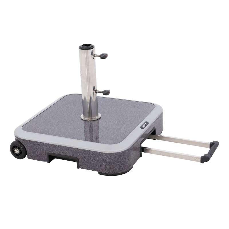 Doppler Expert Trolley Sockel Rollsockel 50 kg Granitoptik 56 x 56 cm 85897EXGT