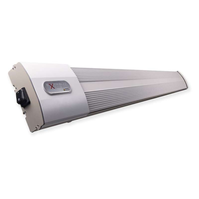 ExtremeLine HeatZone weiß Keramik Dunkelstrahler 2400 W mit Steuerungssystem Heizstrahler