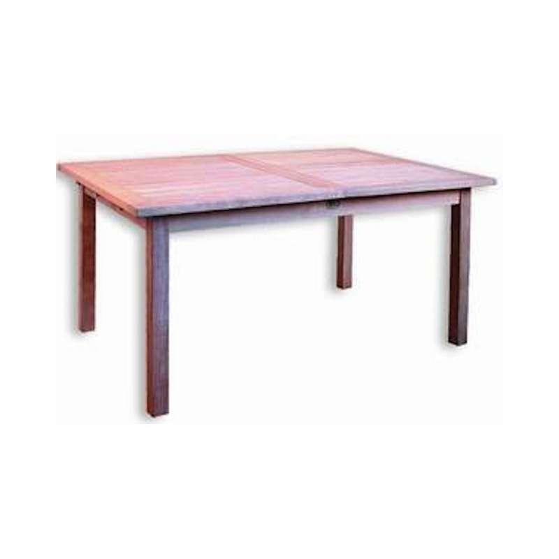 Inko Teakholz-Auszugstisch Bora 150/200x100x75 cm Tisch ausziehbar Holztisch