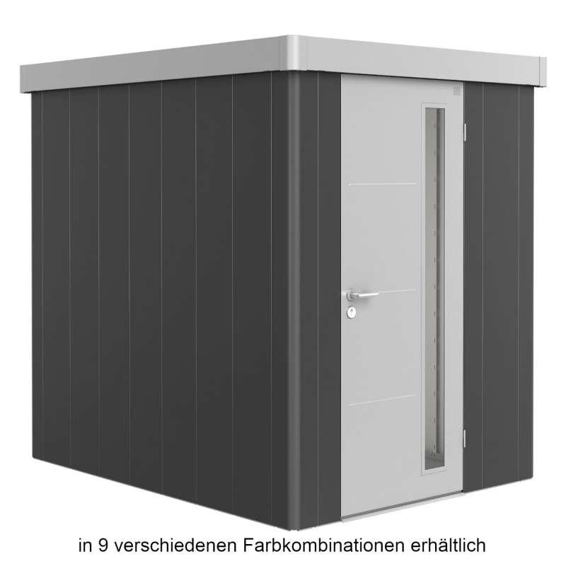 Biohort Gerätehaus Neo 2A 180x236x222 cm Standardtür in 9 verschiedenen Farben Gartenhaus