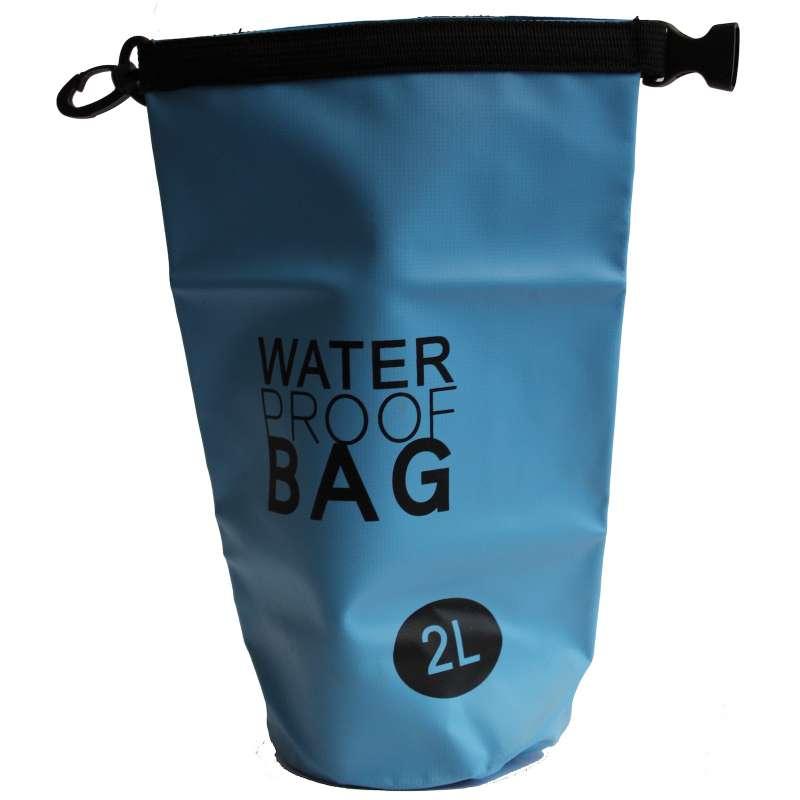 Drybag 2L Tasche 2 Liter wasserdicht Packsack blau Water proof Softcase Beutel