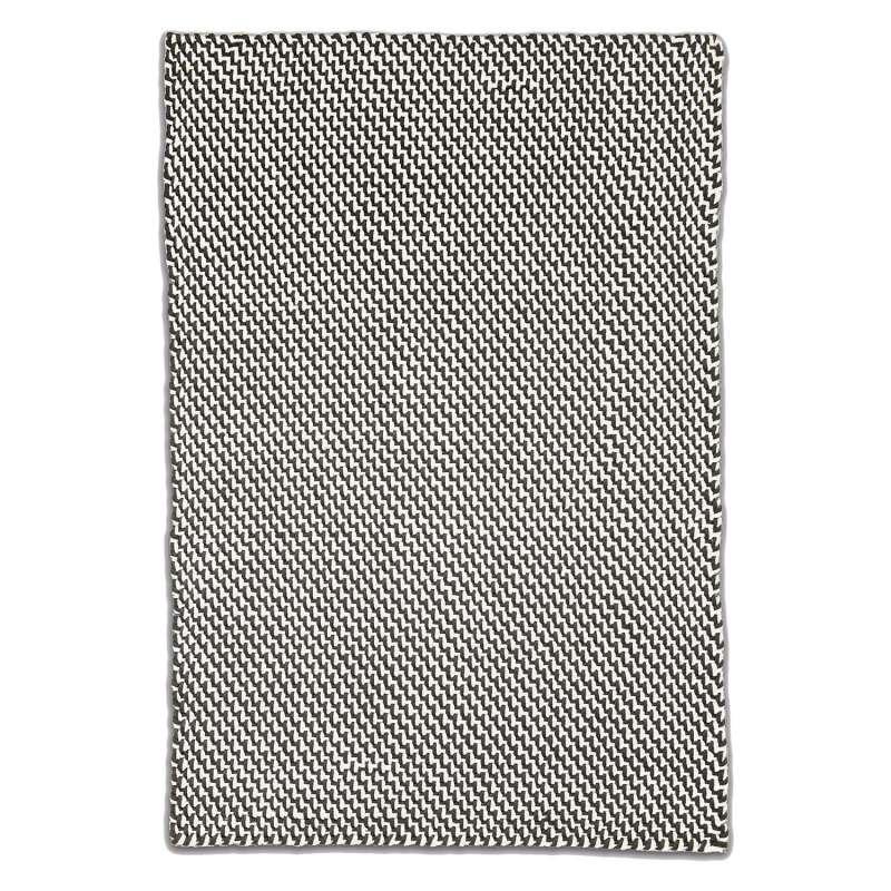 Fab Hab Outdoorteppich Asbury Charcoal&White aus recycelten PET-Flaschen anthrazit/weiß 120x180 cm