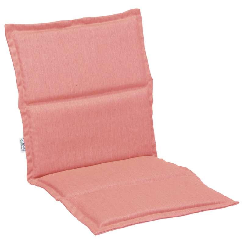 Stern Auflage für Stapelsessel Outdoorstoff koralle uni 93x46 cm Universalauflage Sitzkissen