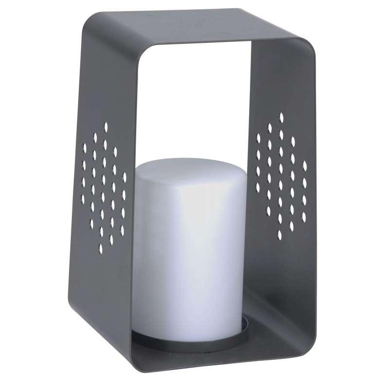 Stern Leuchte Aluminium anthrazit 28x26 cm mit LED-Einsatz 0,6 W Gartenlicht Windlicht