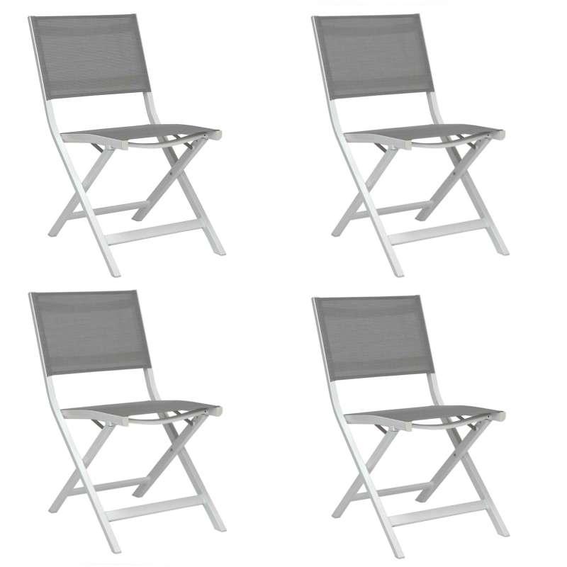 Stern 4 Stk Balkonklappstuhl Nils Aluminium weiß / silber Gartenstuhl 418994