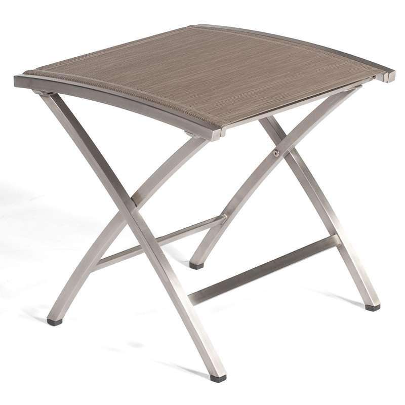 Sonnenpartner Fußhocker Paragon Edelstahl mit Textilen taupe Sitzhocker