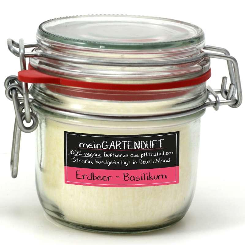 Candle Factory meinGartenduft Erdbeer-Basilikum Drahtbügelglas klein 507-003