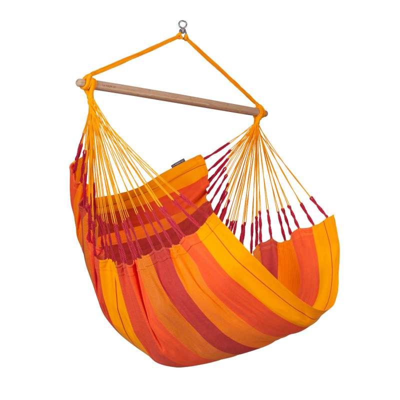 La Siesta Hängestuhl Bio-Baumwolle HABANA Comfort volcano orange Lounger HAL18-22