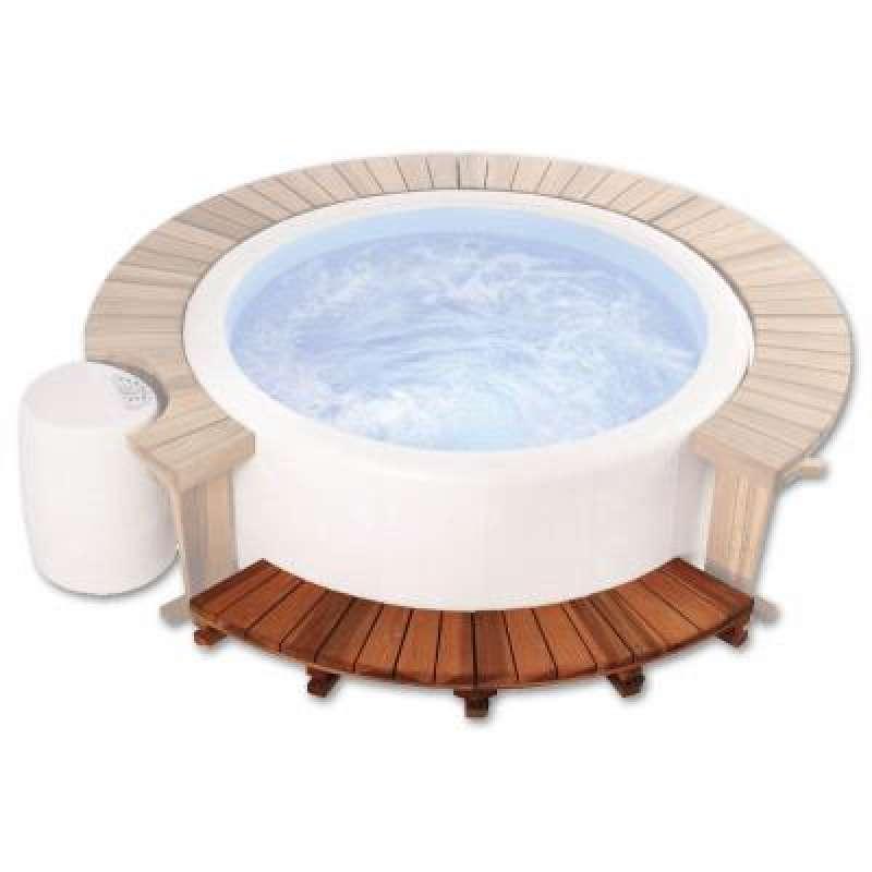 Softub Holzeinstieg für Softub Whirlpool Resort mit 2,00 m Außendurchmesser