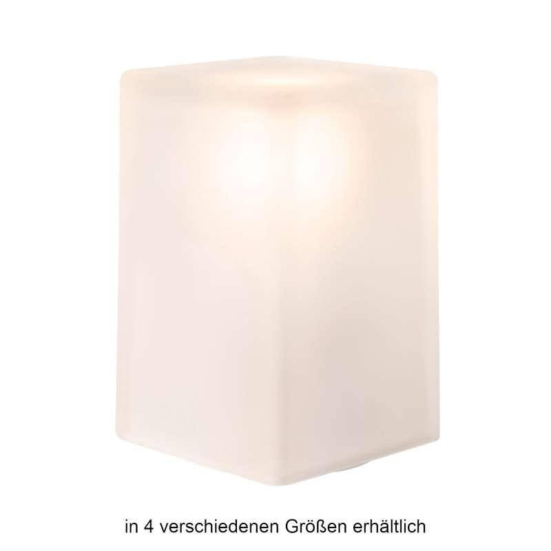 NEOZ kabellose Akku-Tischleuchte ICE Square/Round UNO LED-Lampe dimmbar 1 Watt 16x8,5 17,5x11 cm