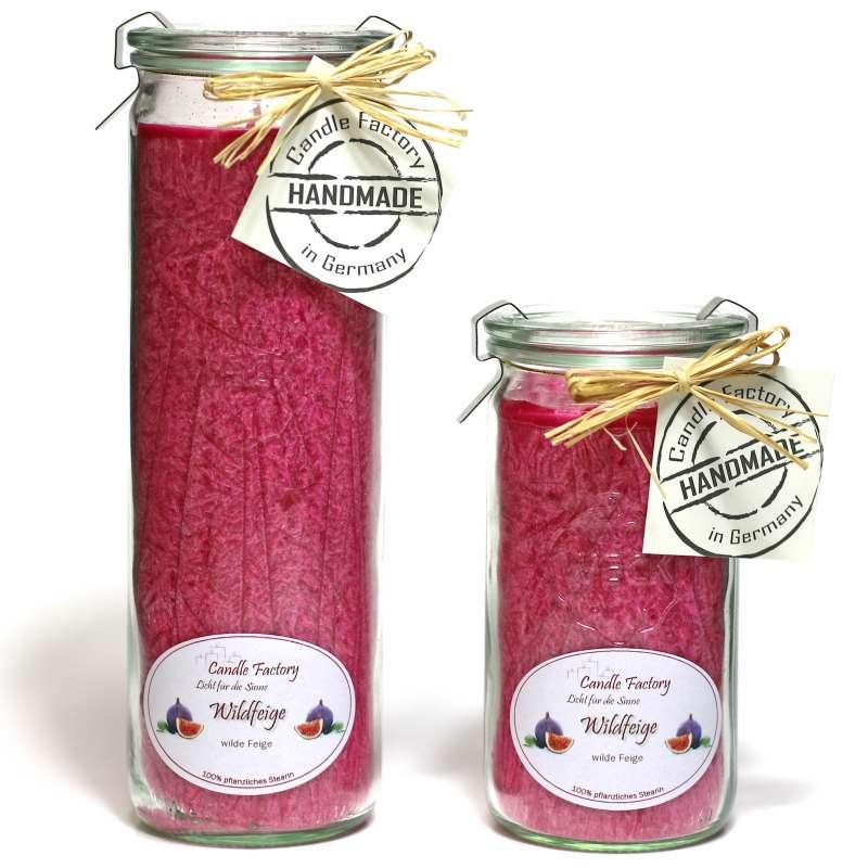 Candle Factory Kerzen-Set Wildfeige Big + Mini Jumbo Duftkerze Dekokerze