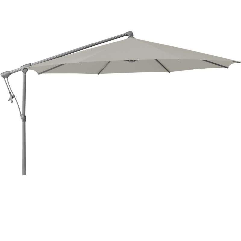 GLATZ Sonnenschirm SUNWING® C+ easy rund ø 300 cm Stoffklasse 2 Ash 151
