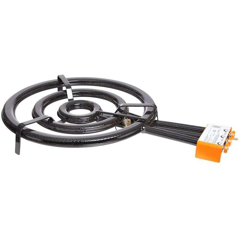 Paella World Paella-Brenner 3-Ring-Gasbrenner mit Zuendsicherung Ø 60 cm - 27,4 kW, 50 mbar