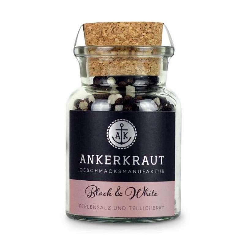 Ankerkraut Black & White Pfeffer Gewürzmischung im Korkenglas 115 g