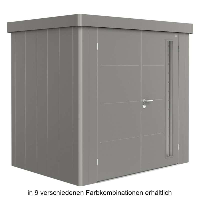 Biohort Gerätehaus Neo 1B 236x180x222 cm Doppeltür in 9 verschiedenen Farben Gartenhaus