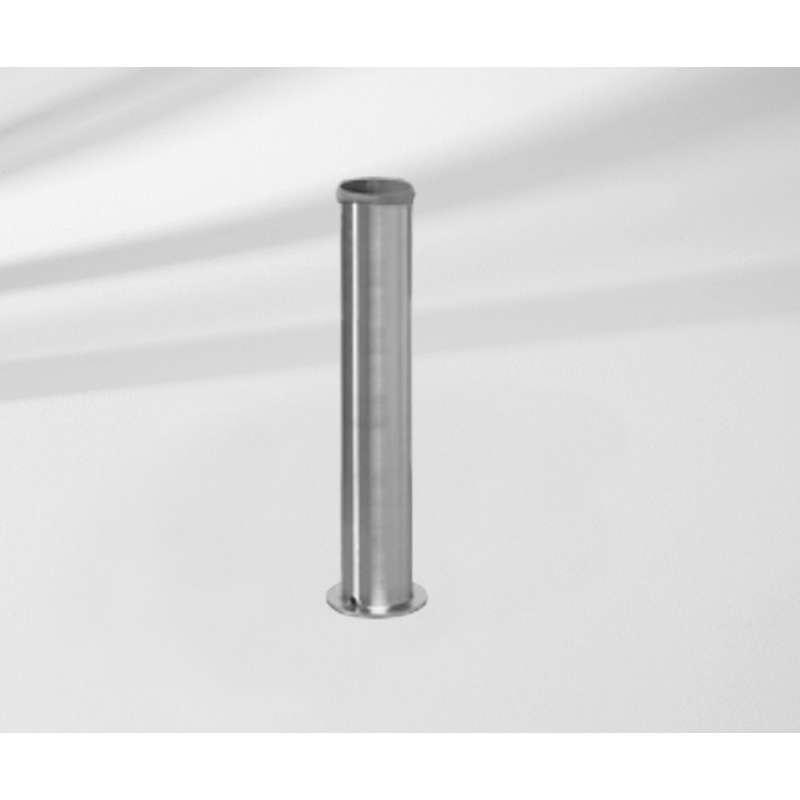 GLATZ Standrohr Z P+ aus Stahl verzinkt passend zu Betonsockel Granitsockel