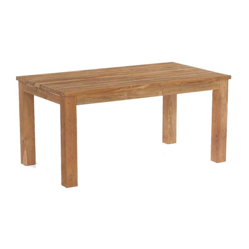 Sonnenpartner Gartentisch Charleston 160x90 cm Teakholz Old Teak Tisch Esstisch