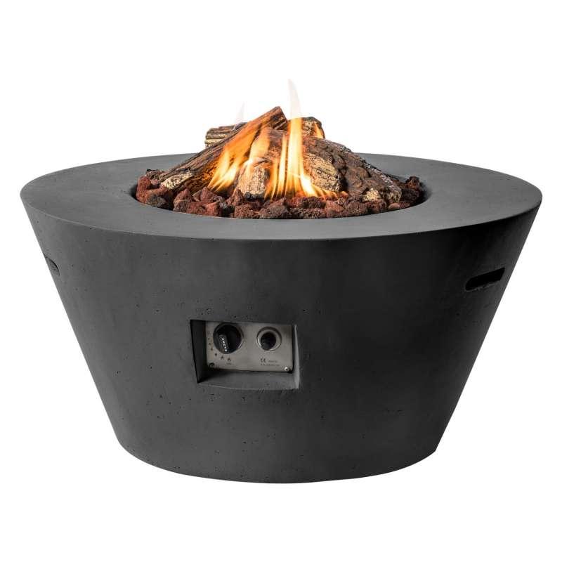 Happy Cocooning Mania Feuertisch Cone 19,5 kW konisch 96x96x46 cm Beton-Optik schwarz