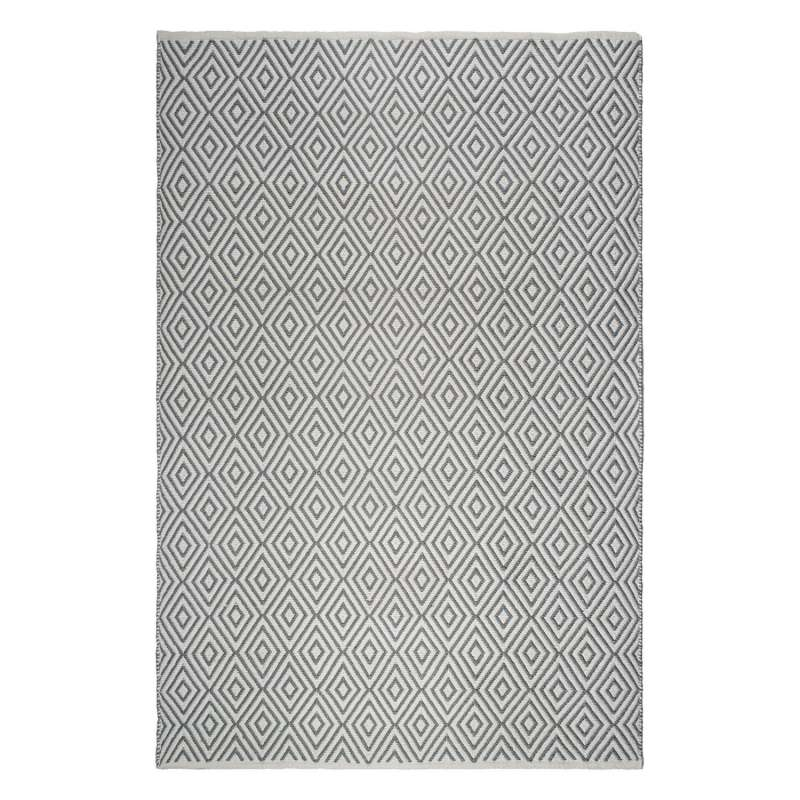 Fab Hab Outdoorteppich Veria Gray&White aus recycelten PET-Flaschen grau/weiß 120x180 cm