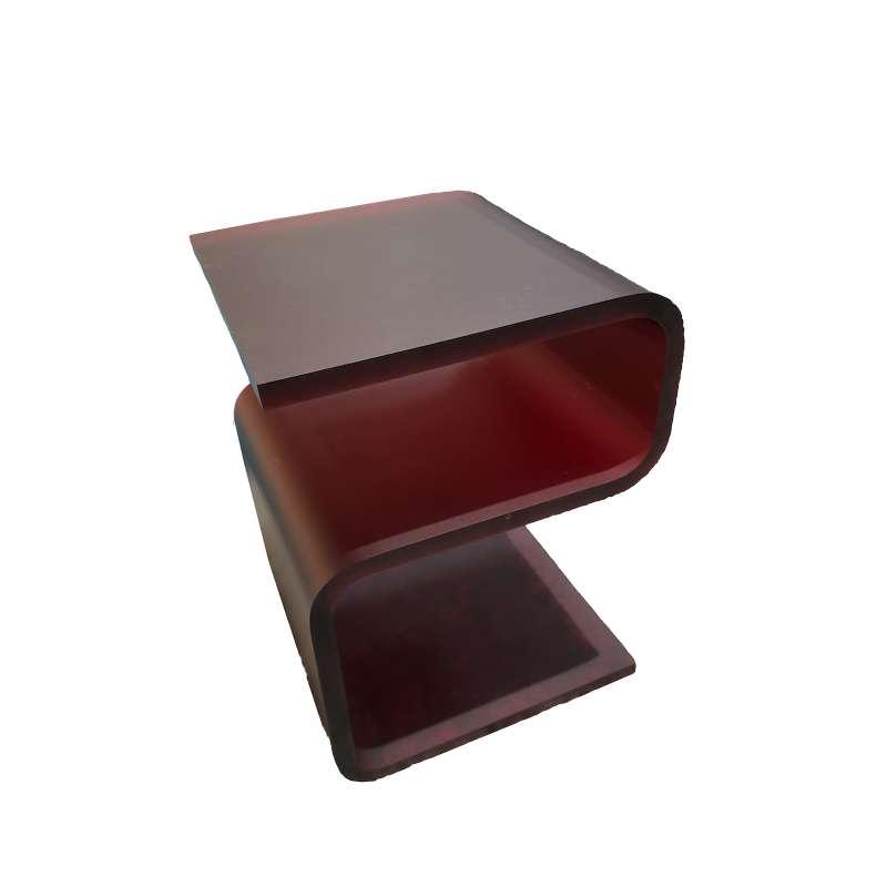 Bretz Beistelltisch B146 Cherry-Rot satiniert aus Acrylglas Ausstellungsstück