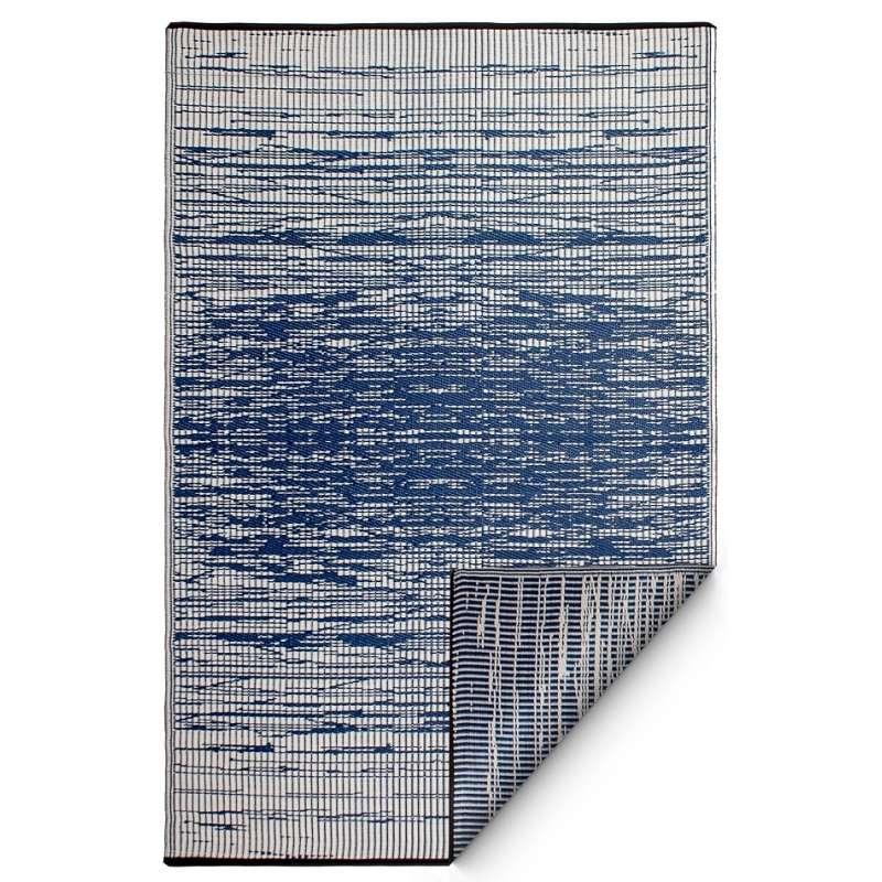 Fab Hab Outdoorteppich Brooklyn blau 240 x 300 cm aus recyceltem Plastik