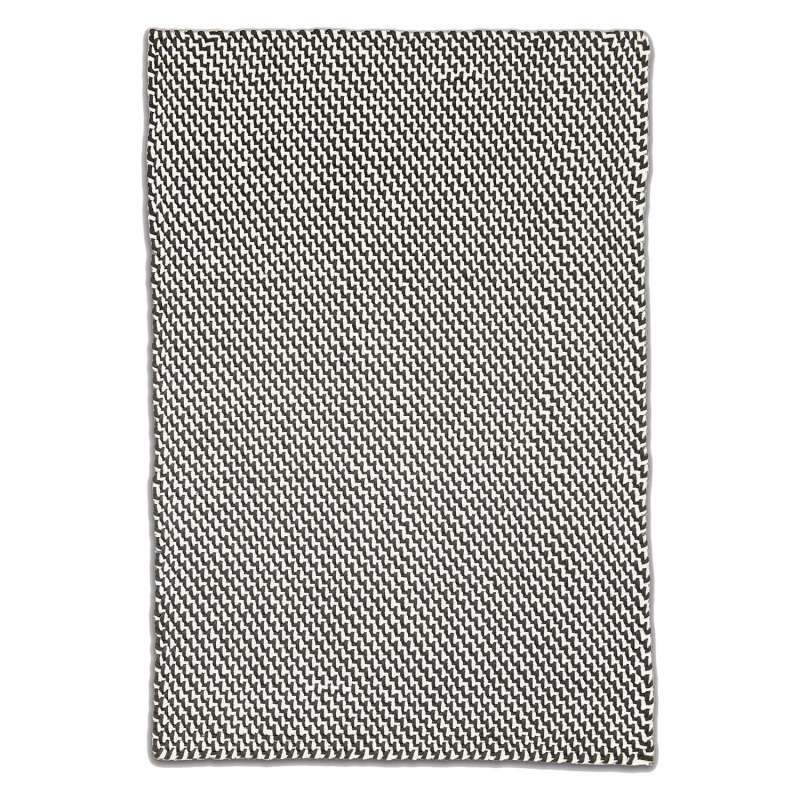 Fab Hab Outdoorteppich Asbury Charcoal&White aus recycelten PET-Flaschen anthrazit/weiß 60x90 cm