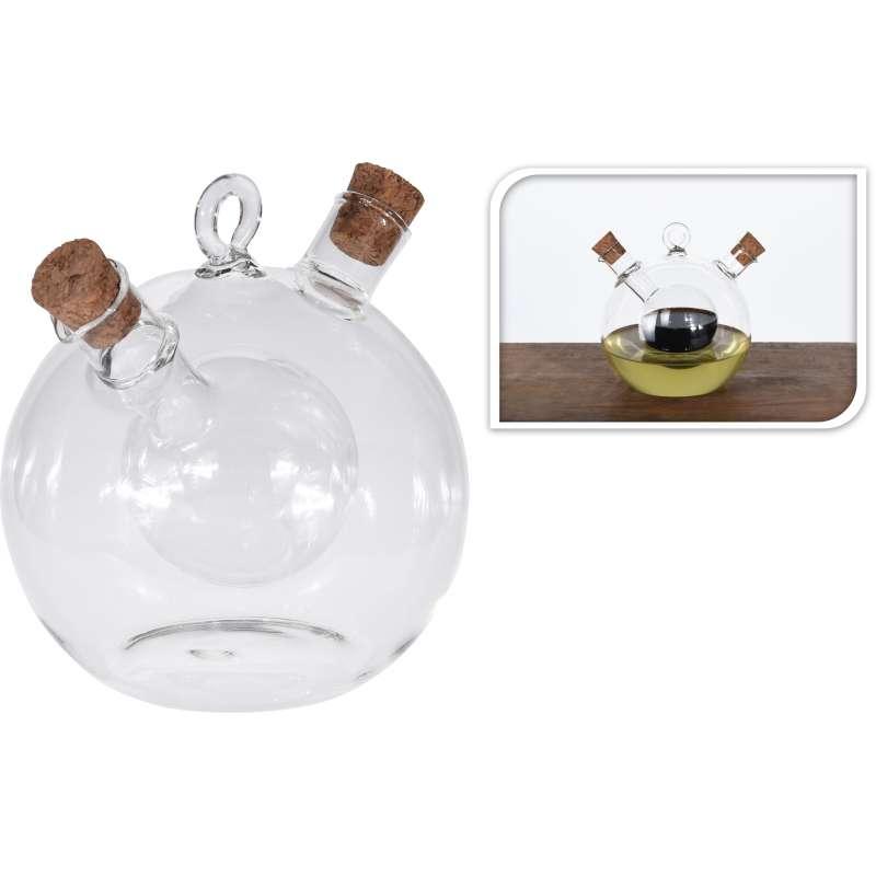 Öl- Essigflasche 12 x 11 cm Essigspender Ölspender Dispenser Glaskaraffe Ausgießer