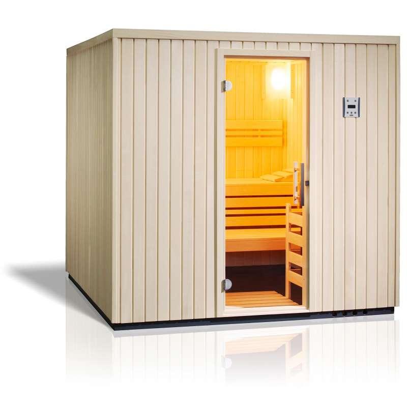 Infraworld Sauna Safir Elementsauna Größe 213 x 213cm nordische Fichte 391003