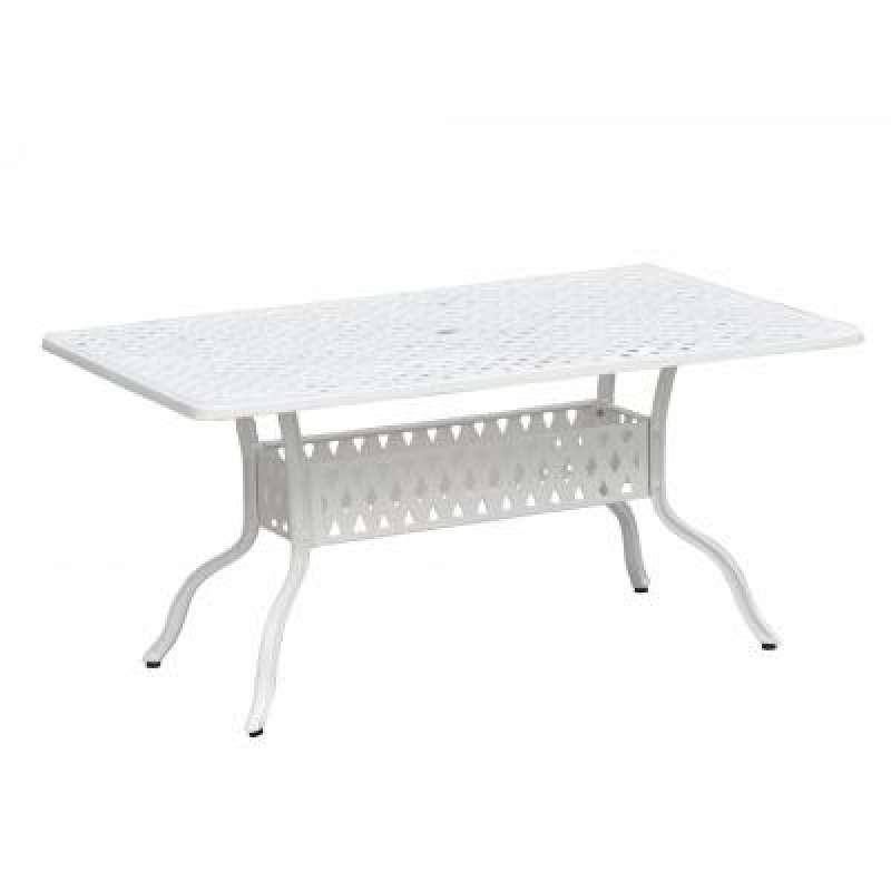 Inko Aluguss Tisch Nexus Weiß 150 x 97 cm Gartentisch TAG 203-W