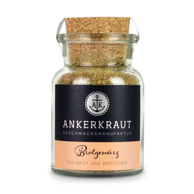 Ankerkraut Brotgewürz Hamburg Gewürzmischung für Brot und Brötchen im Korkenglas 85 g