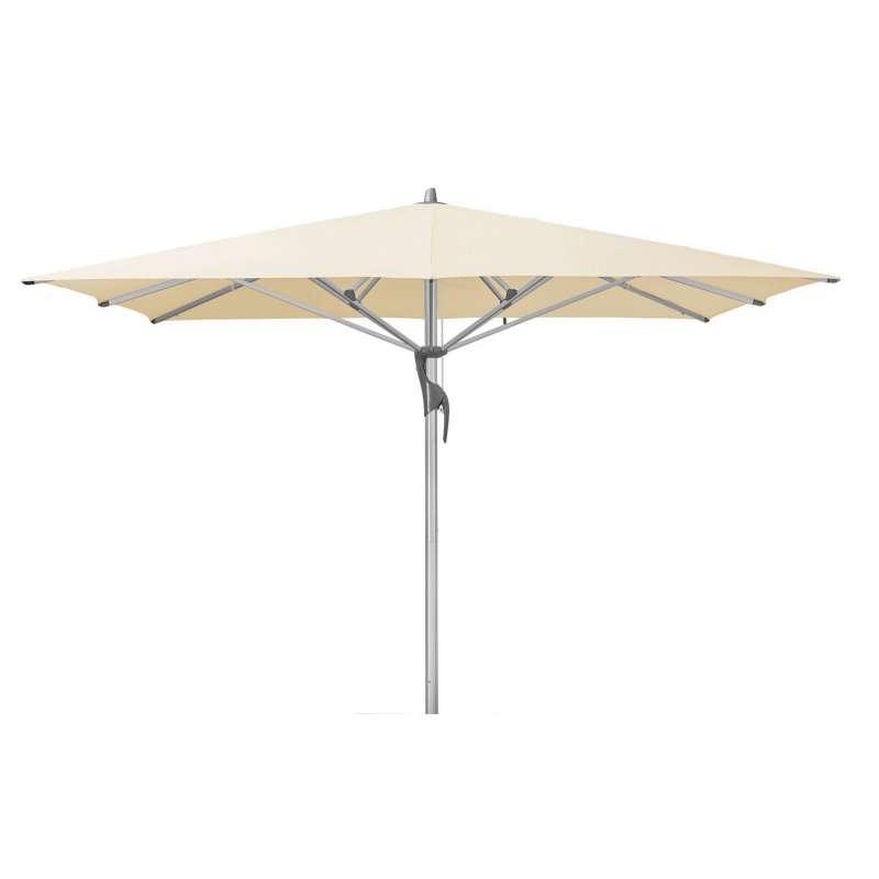 GLATZ Sonnenschirm FORTELLO® LED easy 400 x 400 cm Stoffklasse 2 Eggshell 150