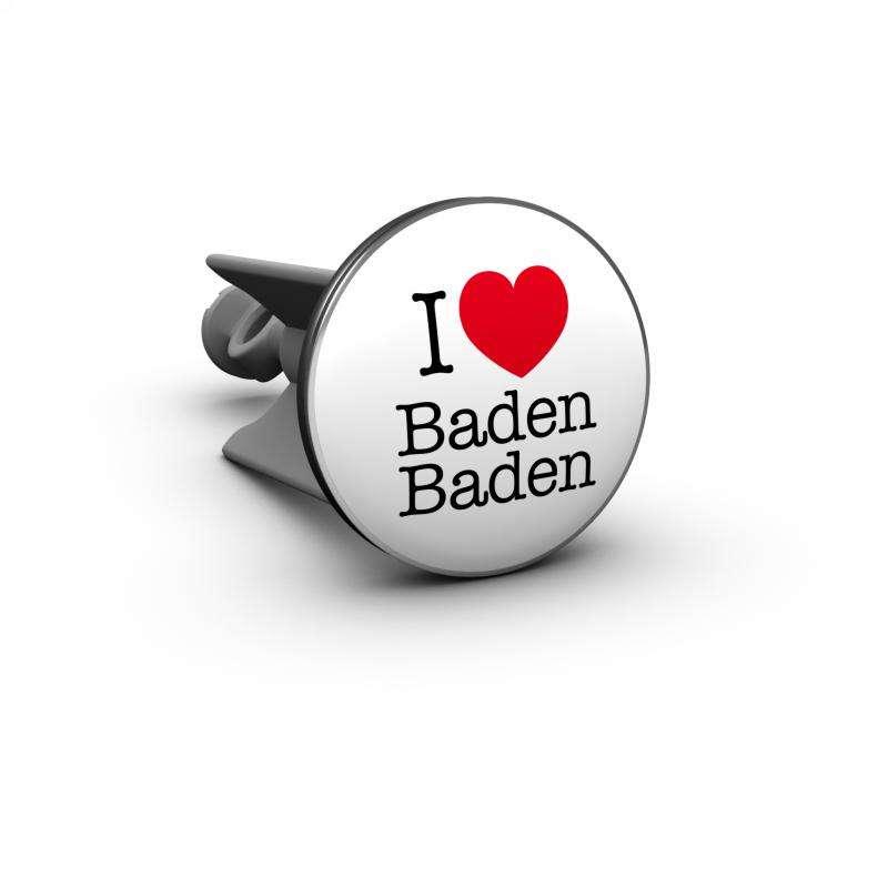 Plopp Waschtischstöpsel - Waschbeckenstöpsel Motiv I love Baden Baden 312