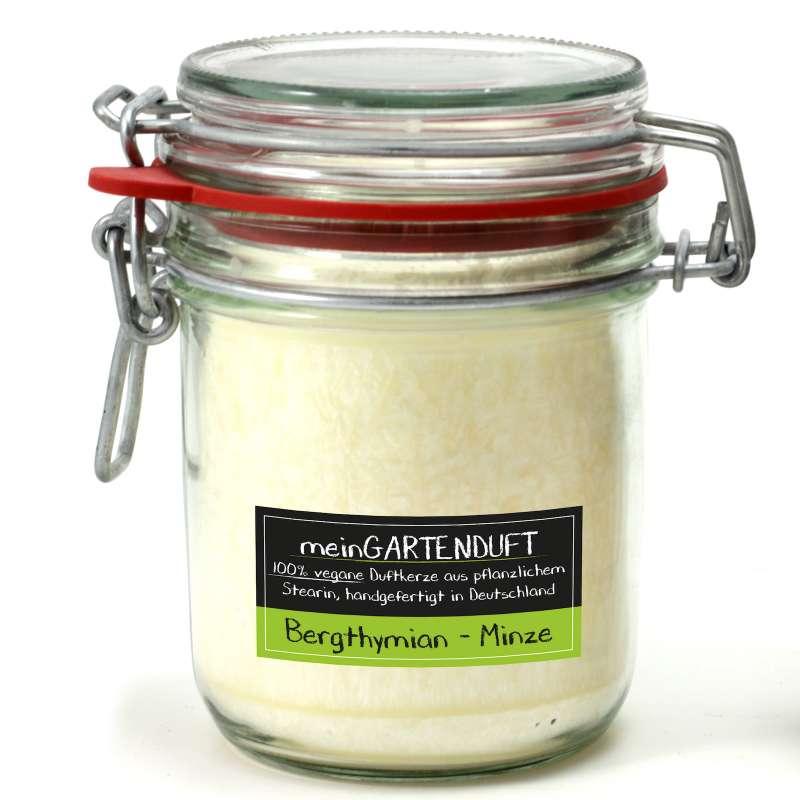 Gartenduft Drahtbügelglas groß Duft Bergthymian-Minze 506002