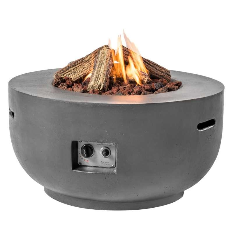 Happy Cocooning Mania Feuertisch Bowl 19,5 kW rund 91x91x46 cm Beton-Optik grau