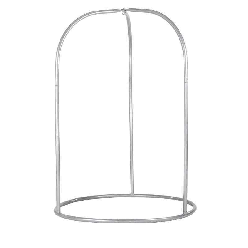 La Siesta Hängestuhlständer ROMANO Stahl-Gestell für Hängestühle ROA16-8 silber