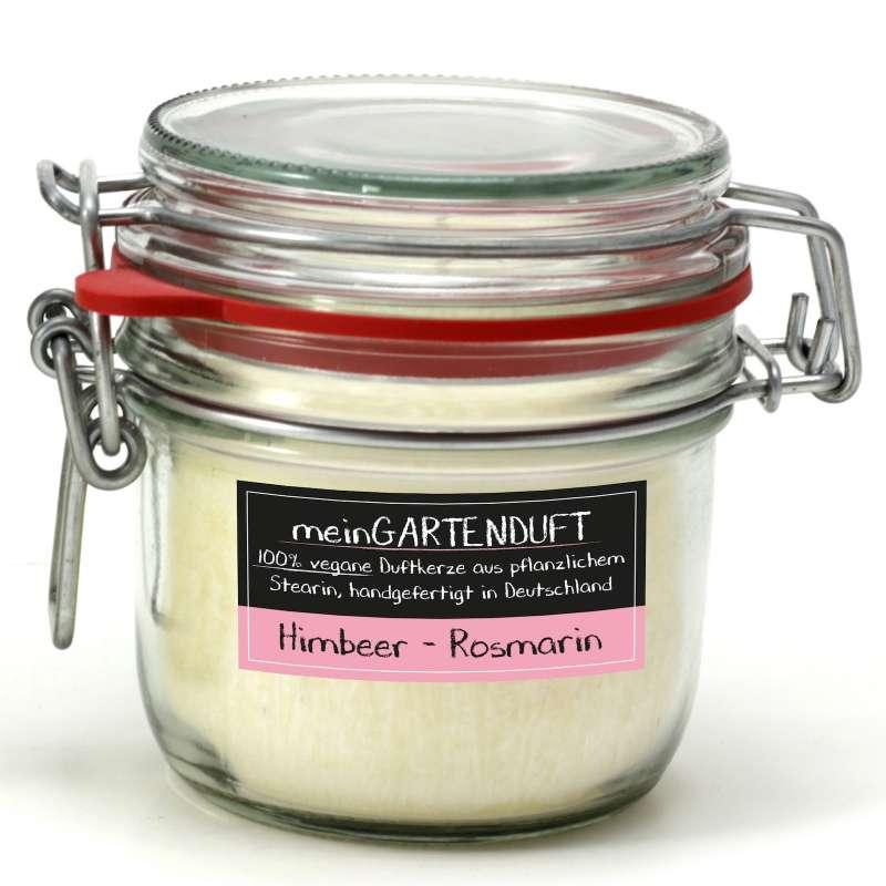 Candle Factory meinGartenduft Himbeer-Rosmarin Drahtbügelglas klein 507-004