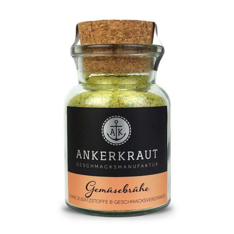 Ankerkraut Gemüsebrühe Kraftbrühe Klare Brühe Gemüsebouillon Korkenglas 90 g