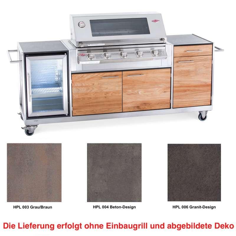 Niehoff Garden Outdoor-Küche Pro ca. 240,5 x 93 x 65 cm Teak Front HPL Korpus