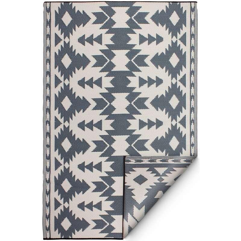 Fab Hab Outdoorteppich Miramar Gray aus recyceltem Plastik grau wetterfest 150x240 cm