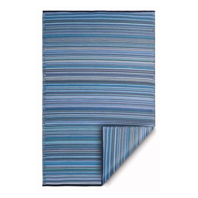 Fab Hab Outdoorteppich Cancun Indigo aus recyceltem Plastik blau 90x150 cm