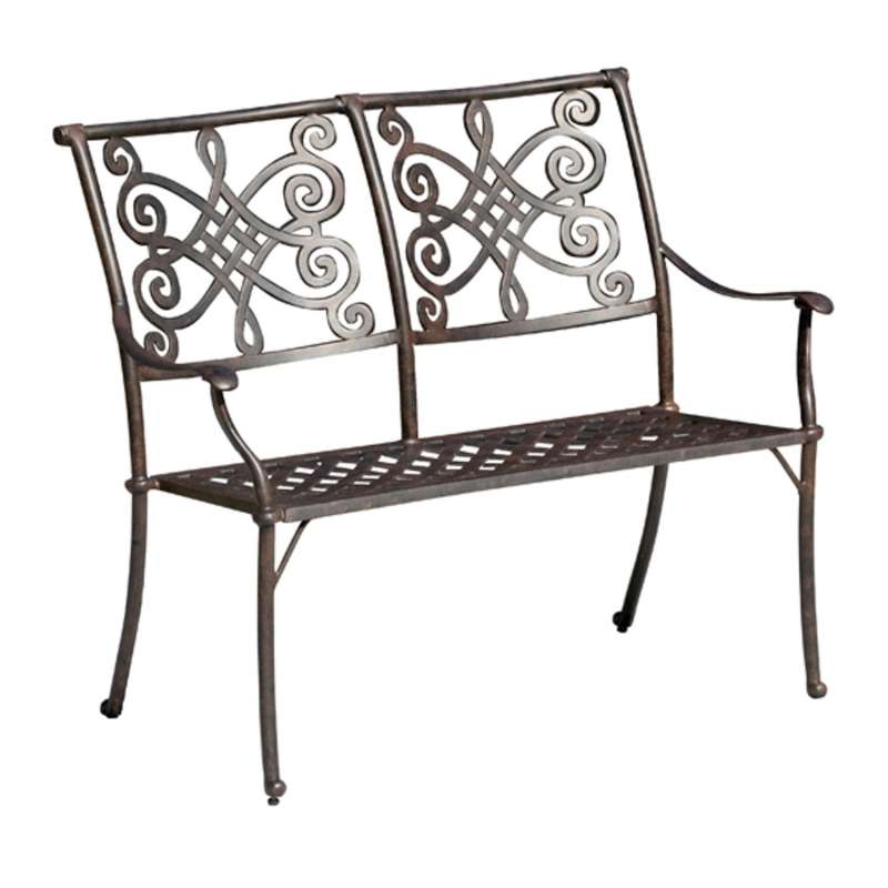 Inko Stapelbank Nexus Alu-Guss bronze oder weiß 110x62x94 cm Gartenbank Sitzbank