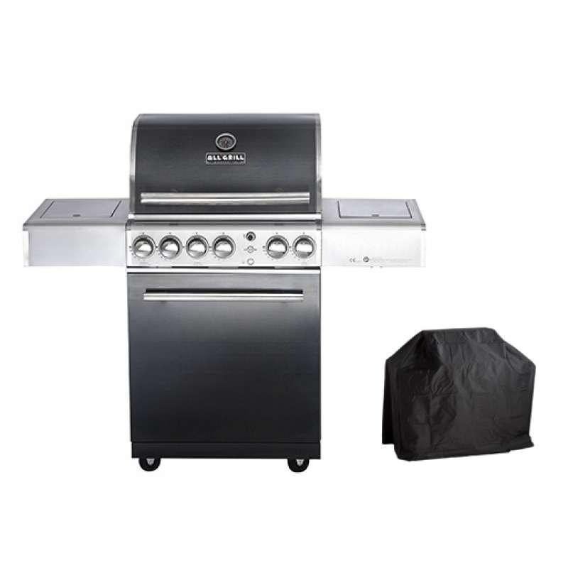 Allgrill Top-Line Chef M Black-Line Gasgrill + Abdeckhaube Wetterschutzhülle 77903