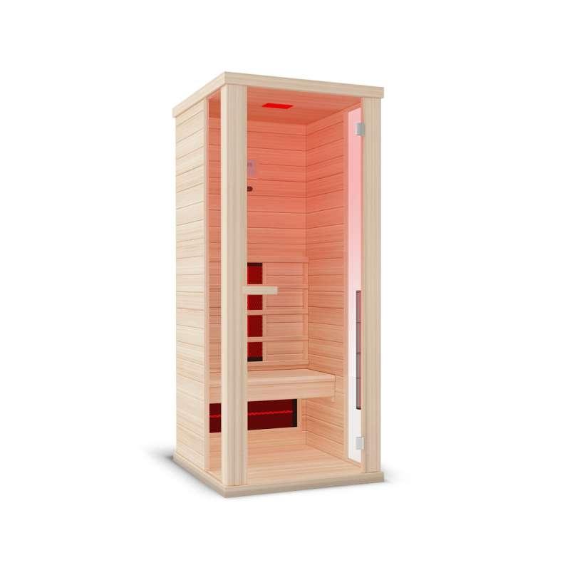 Wellis Helios Hemlock Infrarotkabine 83 x 100 x 194 cm Infrarotsauna kanadisches Hemlock Holz