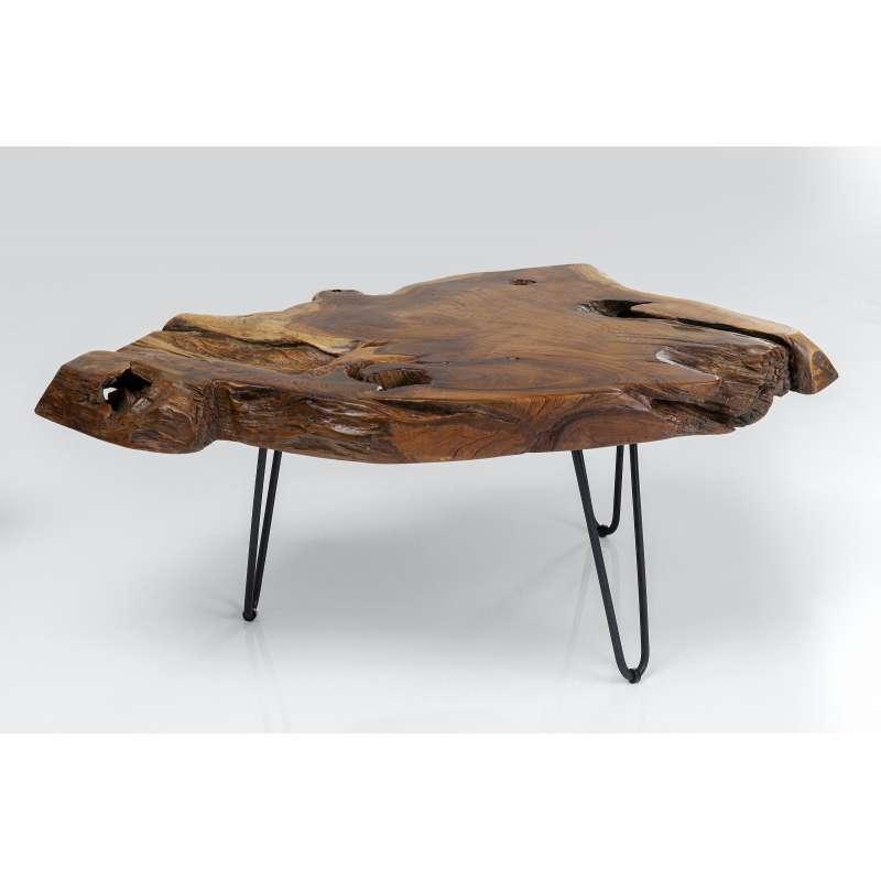 KARE Design Couchtisch Aspen Natur 100 x 60 x 40 cm Teak Massivholz lackiert 85297