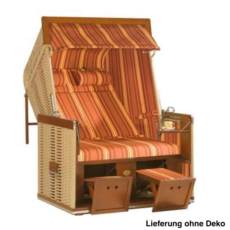 Sonnenpartner Strandkorb Senator 2 Sitzer Liegemodell beige terracotta
