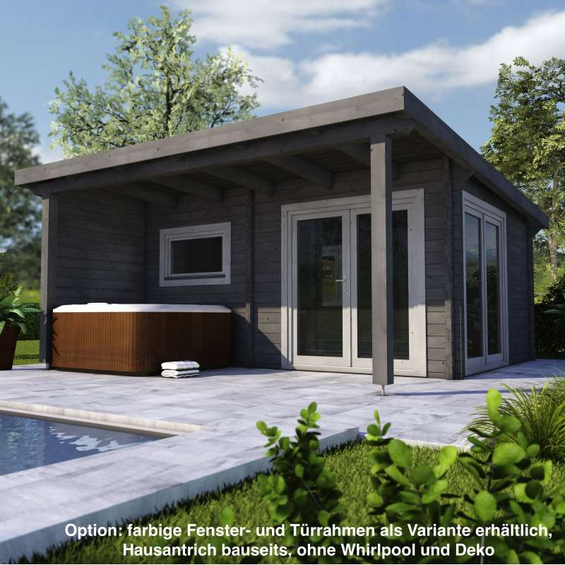 Infraworld Poolhaus Living 1 Größe 505 x 385 cm in nord. Fichte 391050