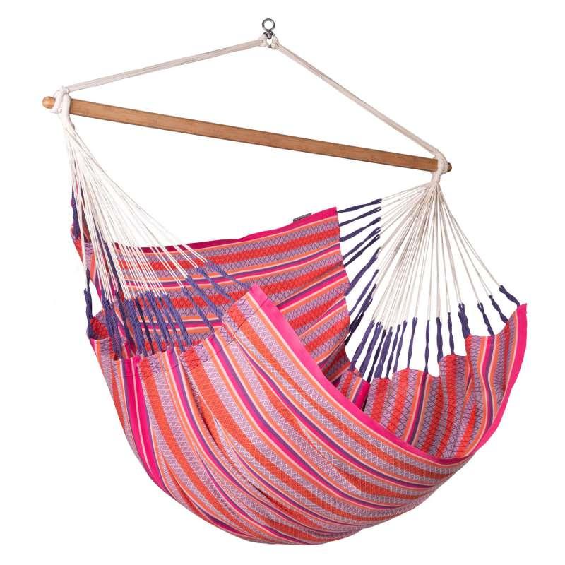 La Siesta Kingsize-Hängestuhl Bio-Baumwolle HABANA flamingo pink lounger HAL21-X2