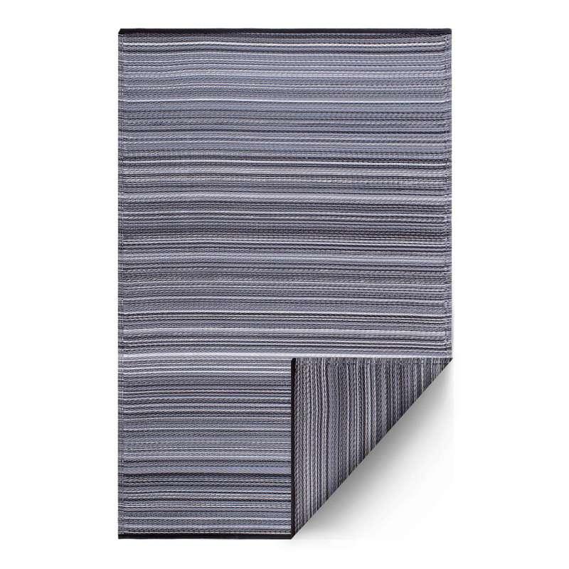 Fab Hab Outdoorteppich Cancun Midnight aus recyceltem Plastik schwarz/grau 180x270 cm