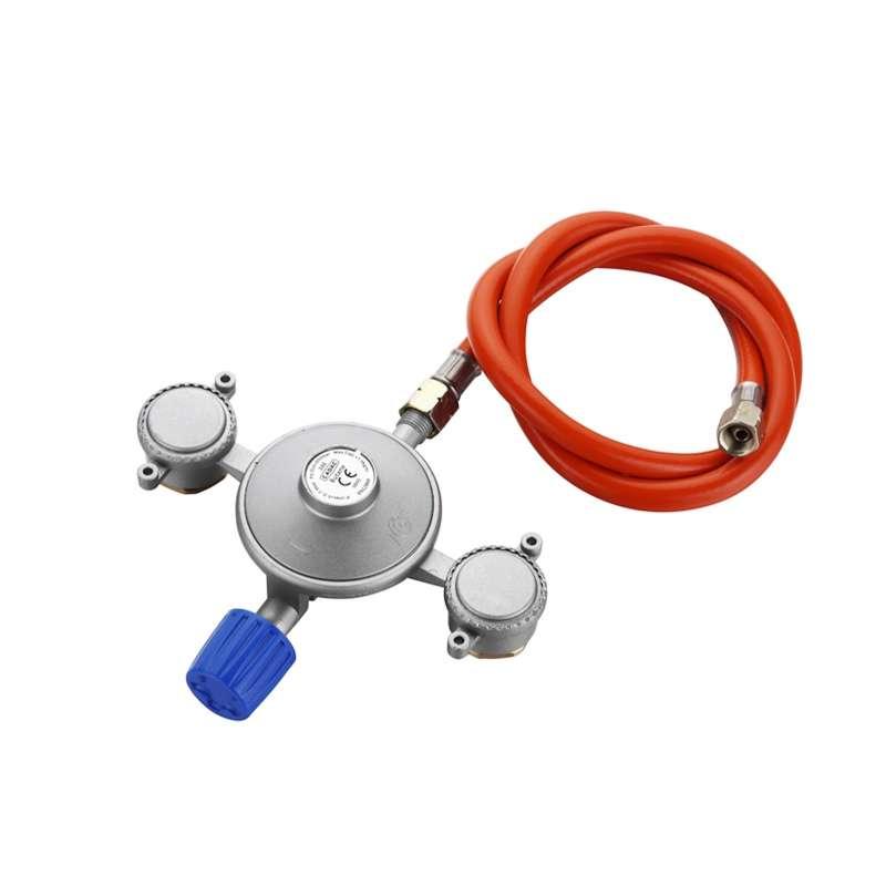 Cadac Dual Power Pak Gasdruckregler 50 mbar Gasregelventil Dual Gasversorgung