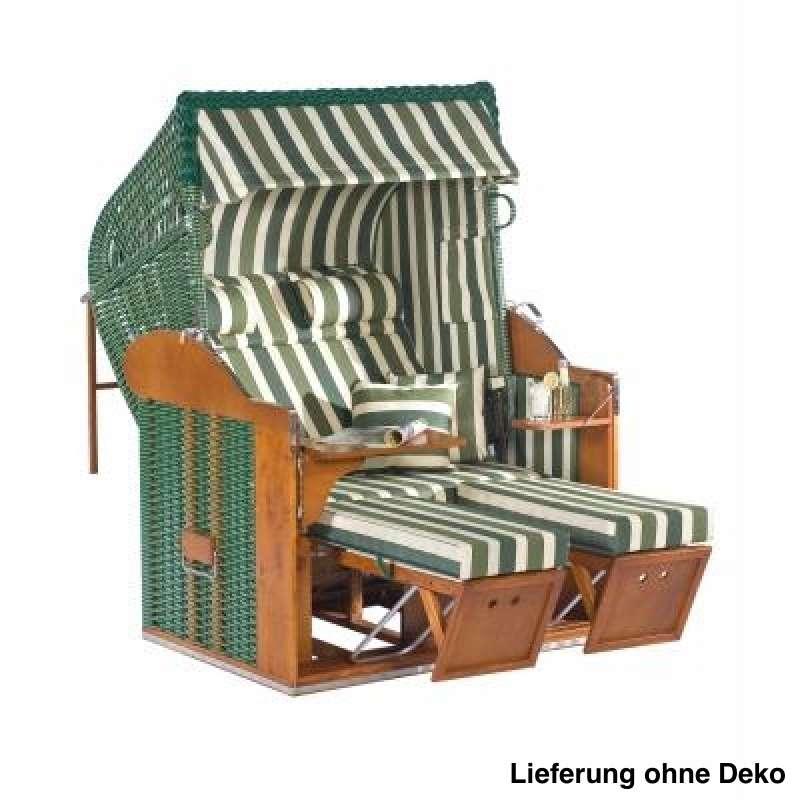 Sonnenpartner Strandkorb Classic 2 Sitzer Liegemodell grün beige